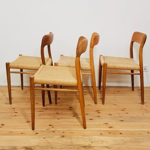 Image of Lote de 4 sillas, Niels O. Møller