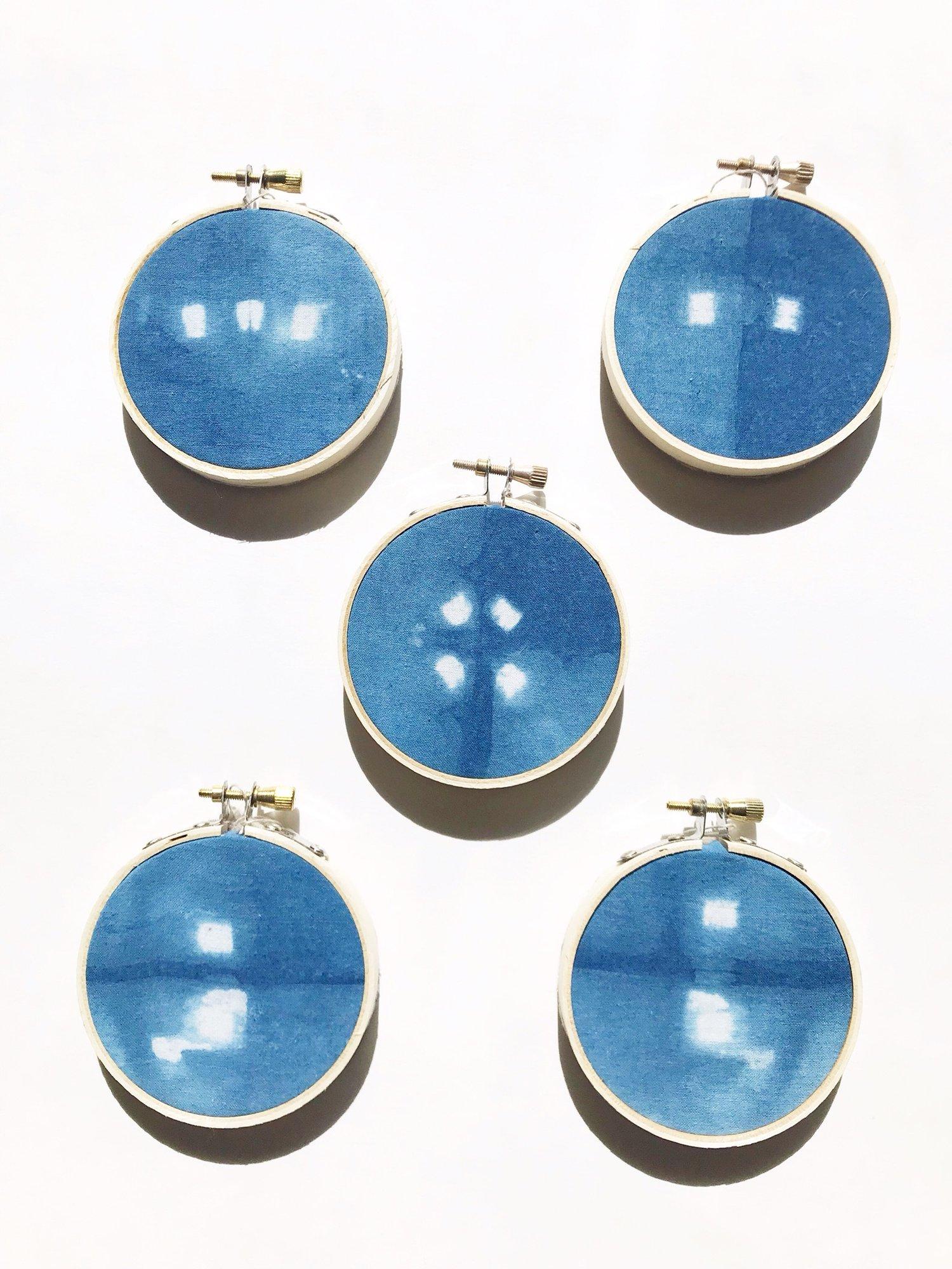 Image of Indigo Mini Hoops Little Dots