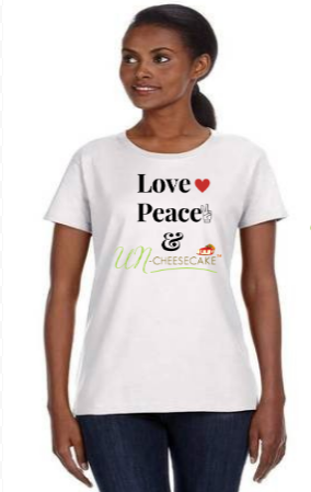 Image of Love❤ Peace✌And UNCheesecake™🍰 T-Shirt ***Pre-Order Only***