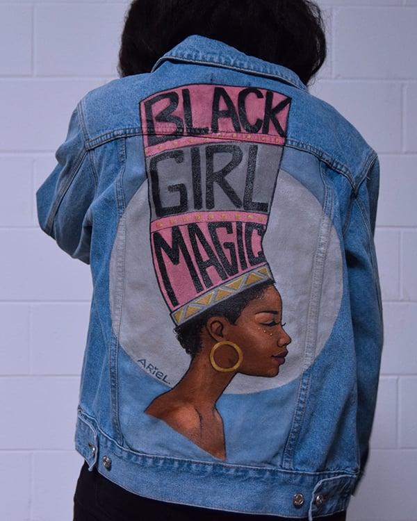 Image of Black Girl Magic denim Jacket