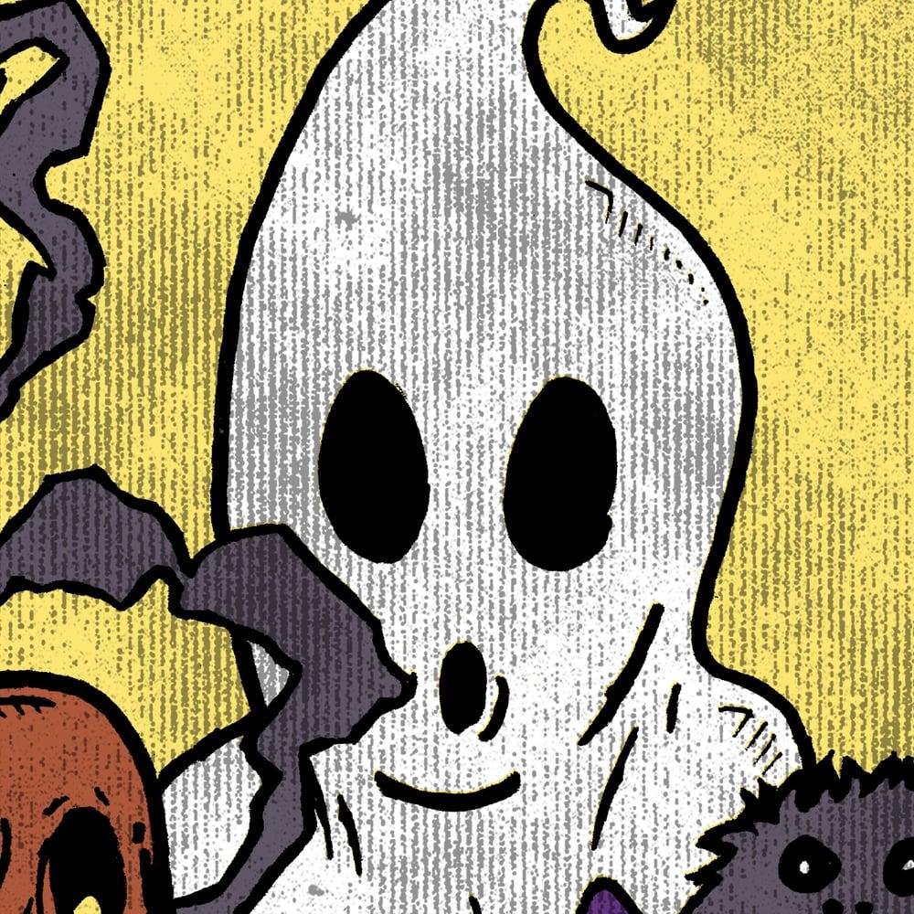 Image of Halloween 'Midnight Spree' T-shirt & Enamel Pin Combo