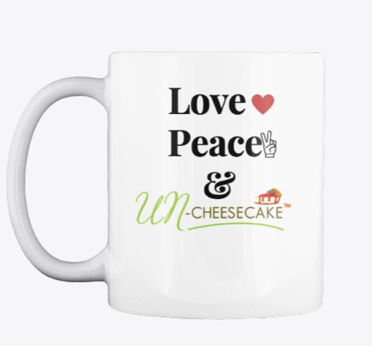 Image of Love❤ Peace✌And UNCheesecake™🍰 Mug ***Pre-Order Only***