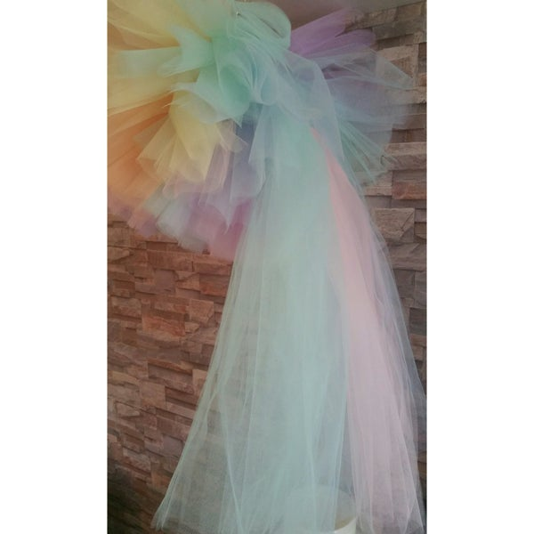 Image of Pastel Rainbow Tutu with detachable Tail