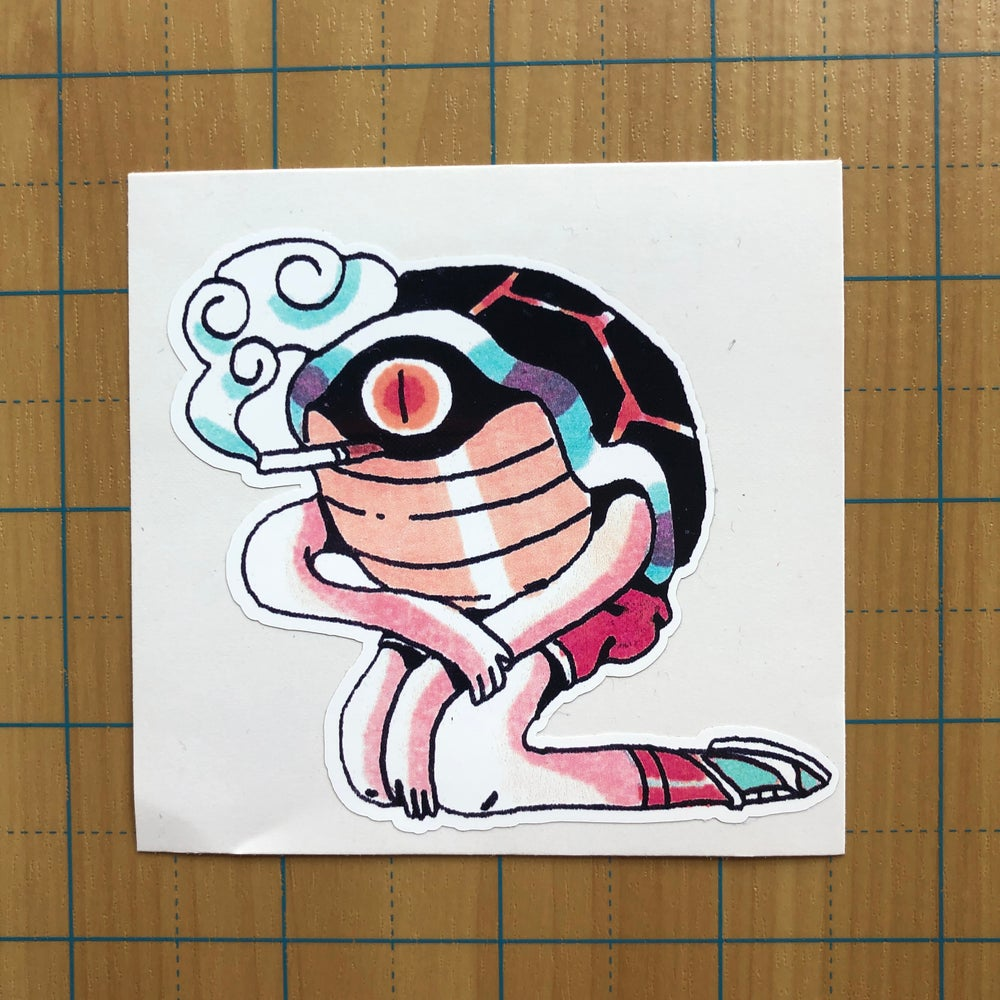 Image of Eye Turtle Sticker