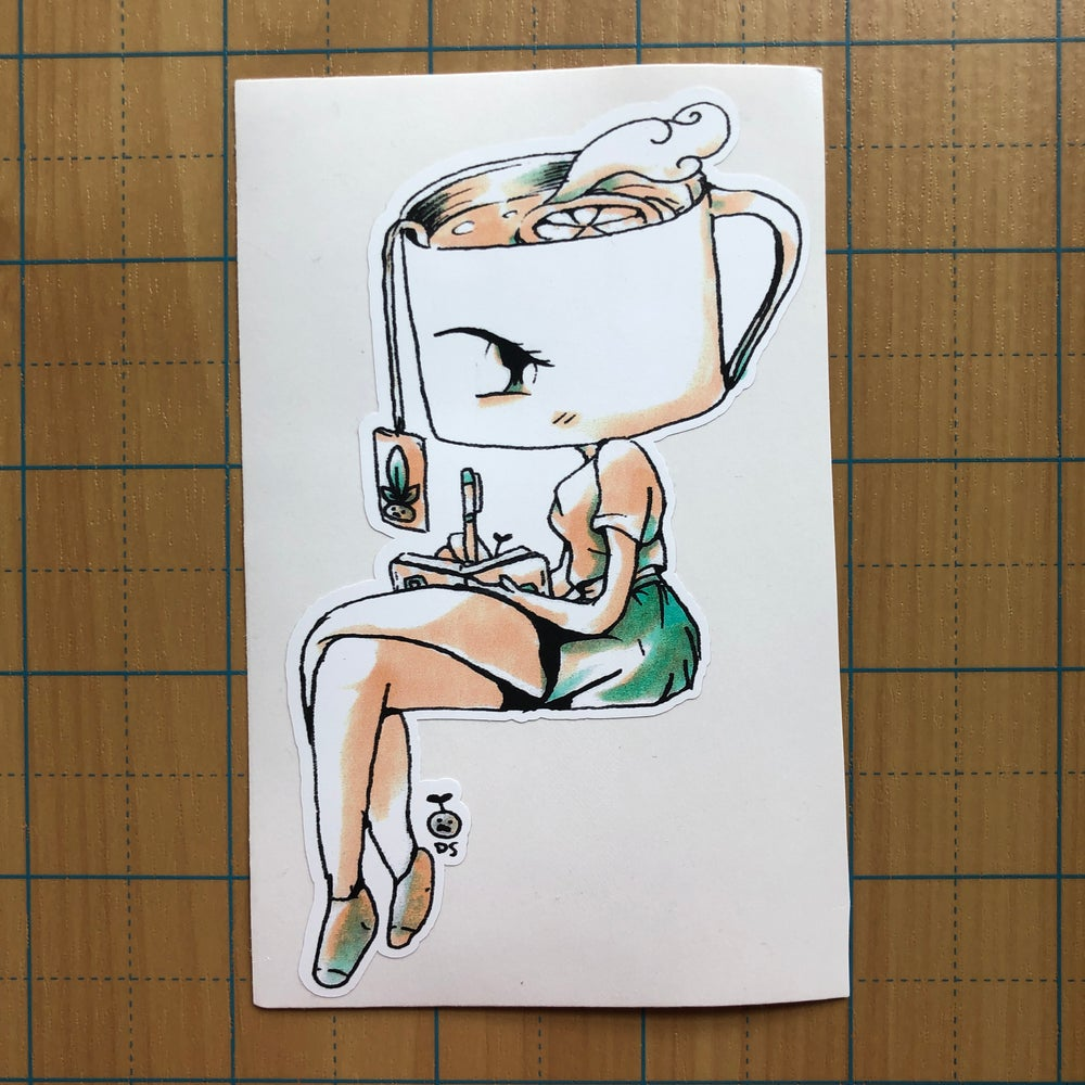 Image of Green Tea Girl Sticker