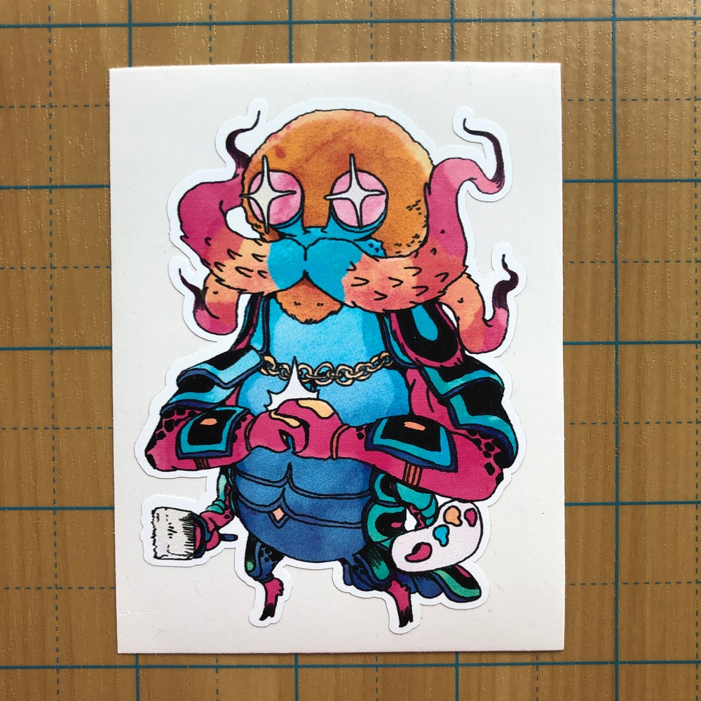 Image of Rainbow Mantis Ross Sticker