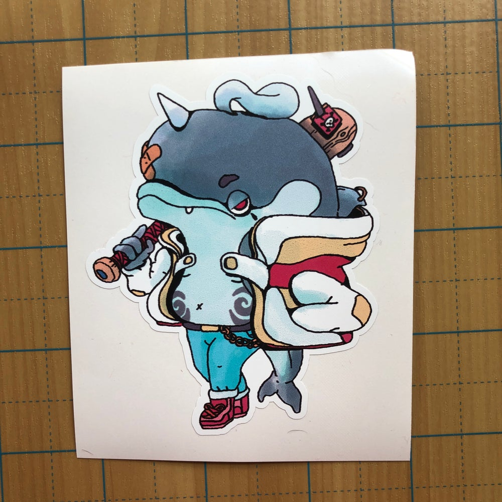 Image of Dolphin Punk Sticker
