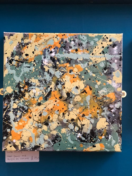 Image of Glass paint canvas