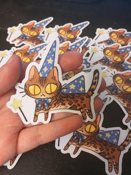 Image of Frumpkin Halloween sticker