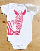Image of Zebra One-piece (Ruby on White)