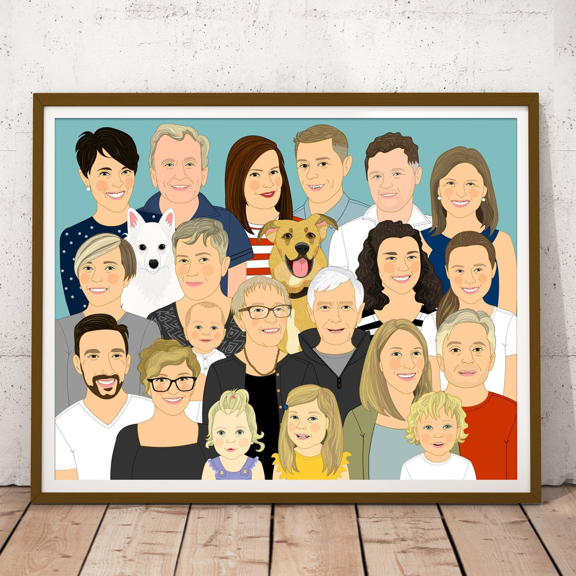 Image of Extended family portrait, 7 or more people or pets.