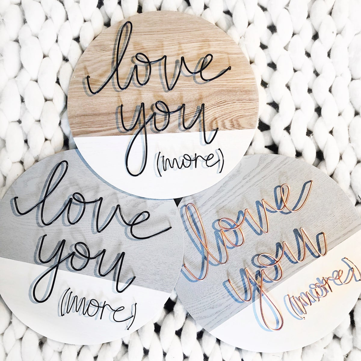 Love you (more)- colour variations