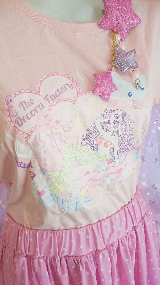 Image of Magical Mermaid Cotton T-Shirt by The Decora Factory