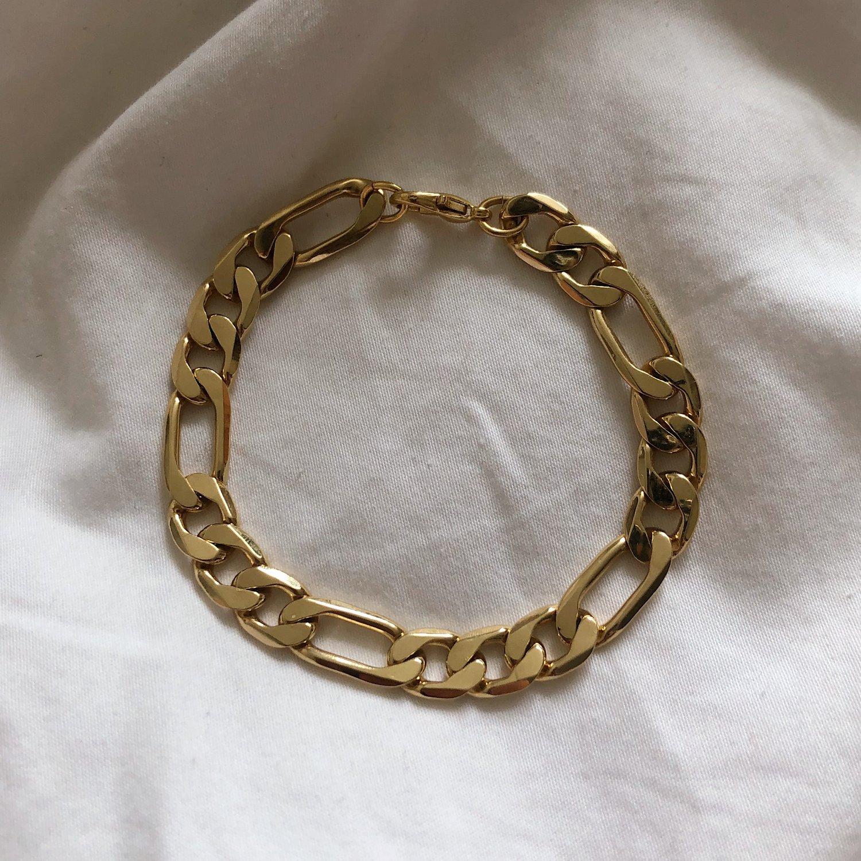 Image of PermaGold Figaro Bracelet