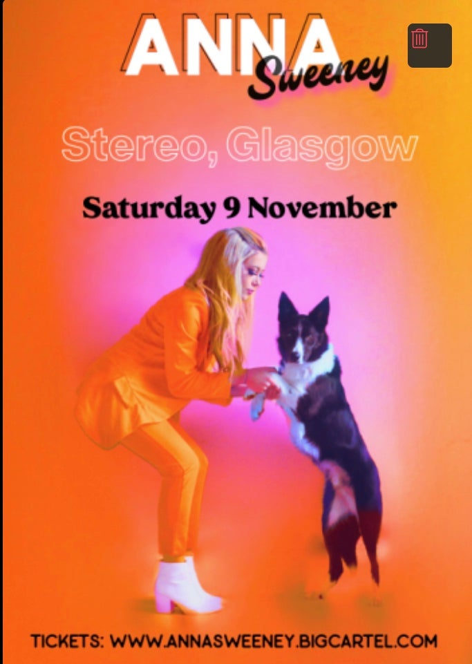 Image of ANNA SWEENEY Live at Stereo, Glasgow