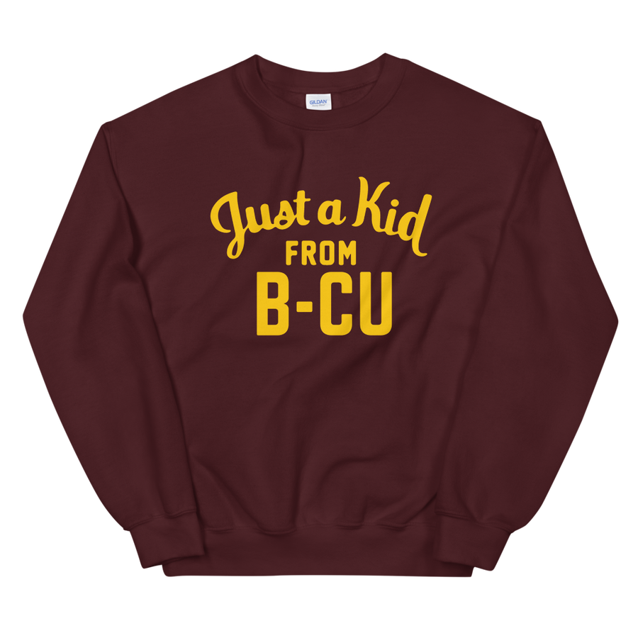 Image of A Kid From B-CU Sweatshirt (Maroon)