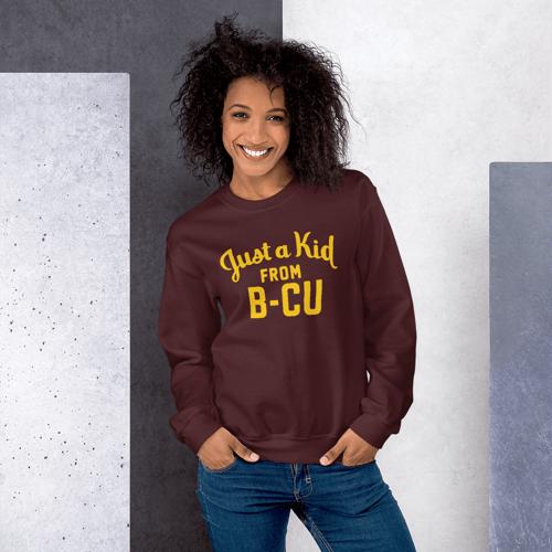 Image of A Kid From B-CU Sweatshirt (Maroon)