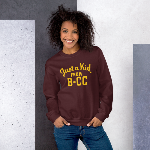 Image of A Kid From B-CC Sweatshirt (Maroon)