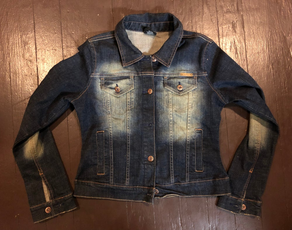 """Diddy & Biggie"" repurposed denim jacket"