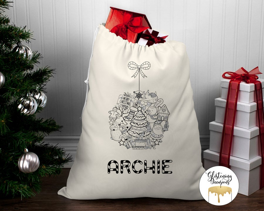Image of Simple Colour In Santa Sack