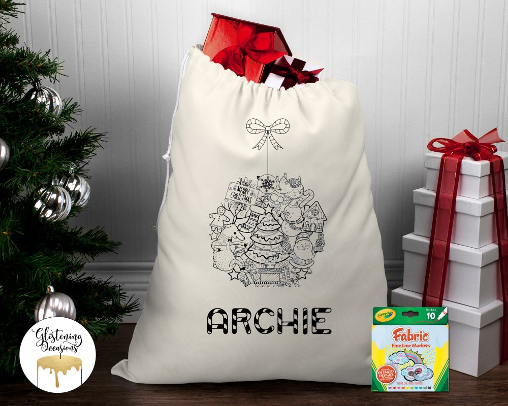 Image of Simple Colour In Santa Sack Set