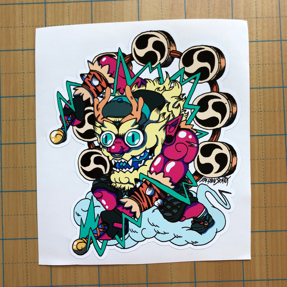 Image of Raijin Drummer Sticker