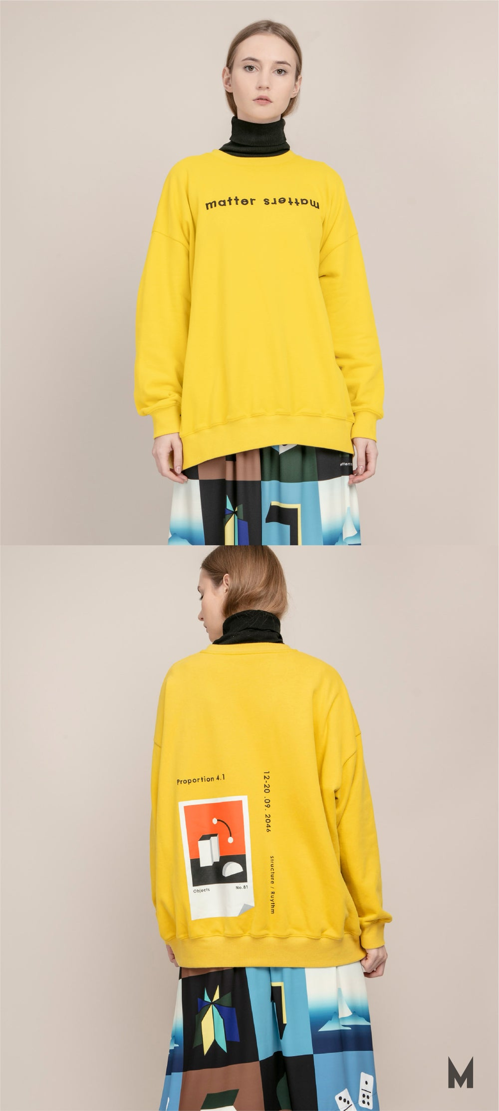 The objects sweatshirt - Yellow
