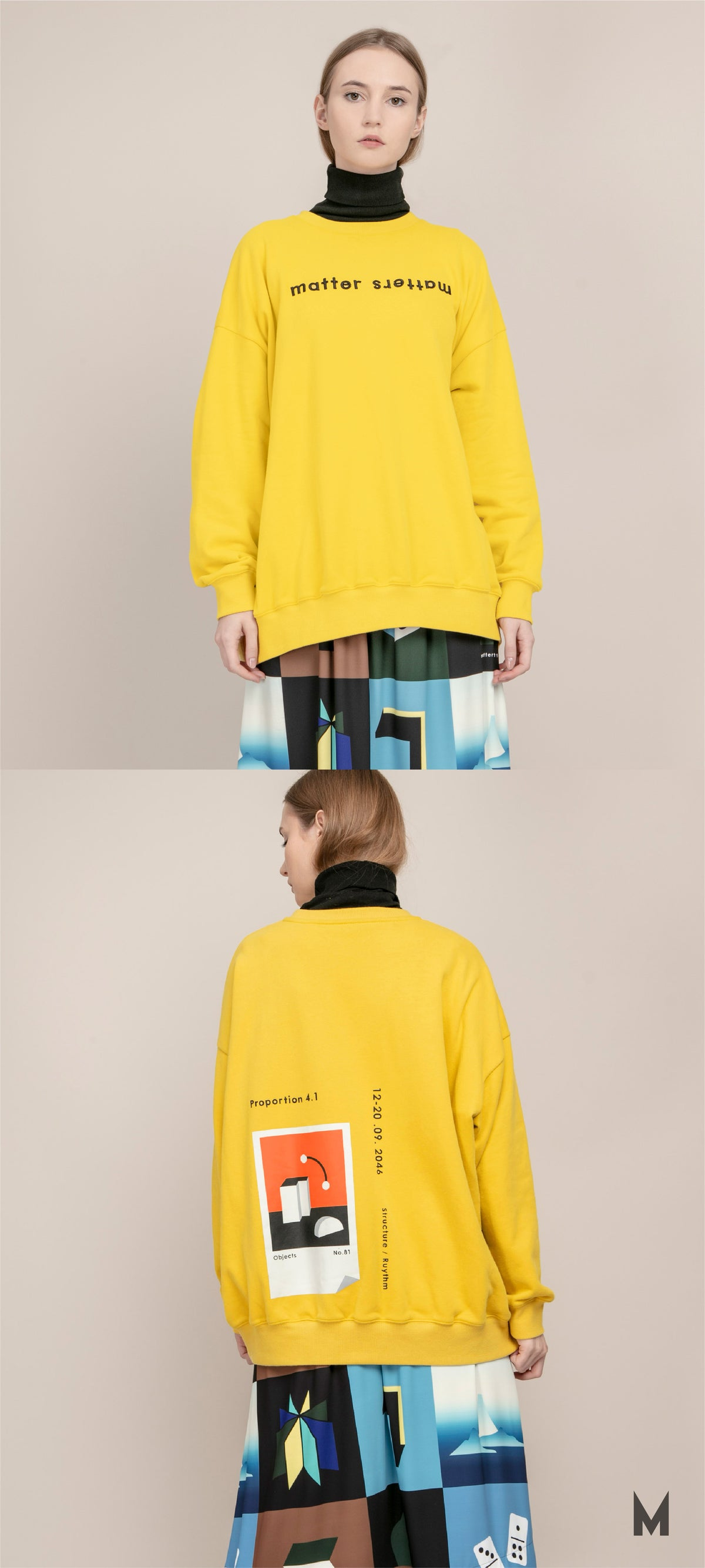 Image of The objects sweatshirt - Yellow