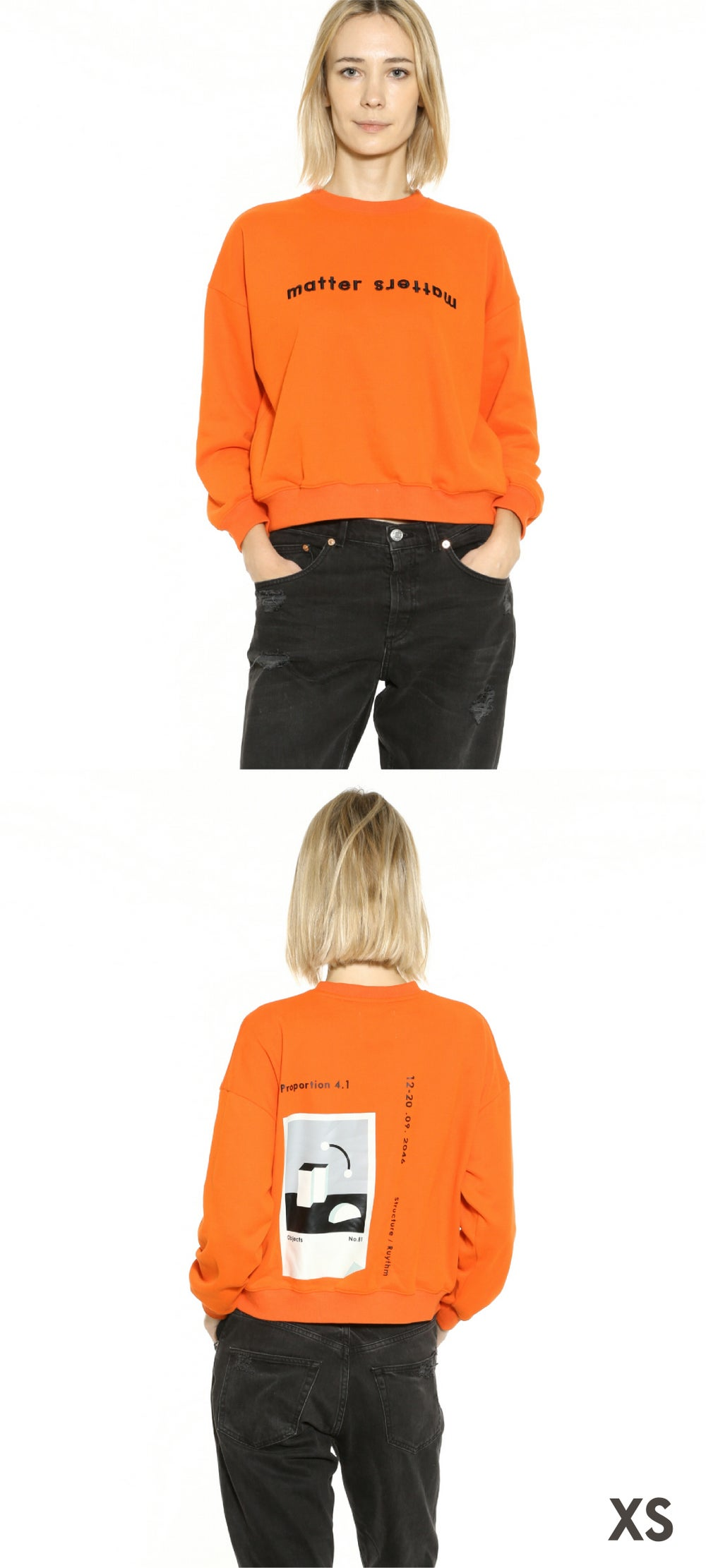 The objects sweatshirt - Neon Orange