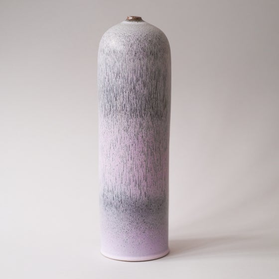 Image of TALL CYLINDRICAL VASE IN LILAC GLAZE