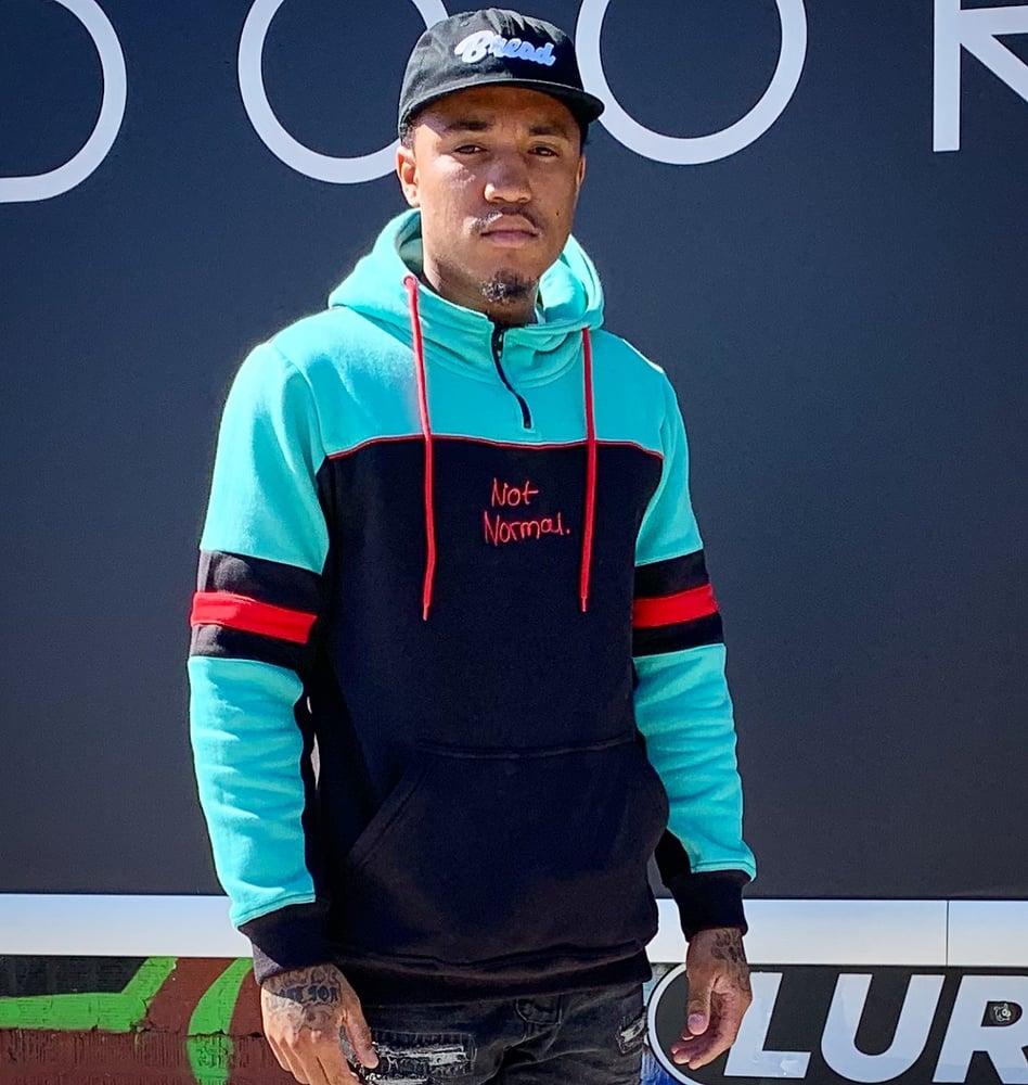 Image of Not Normal Tech hoodie (tec Blue)
