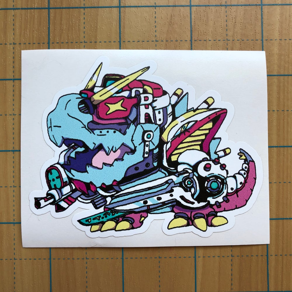 Image of Robo Reptilian 2.0 Sticker