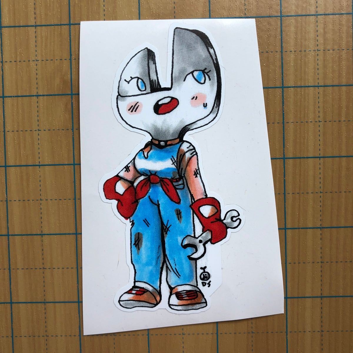 Image of Wrench Chick sticker
