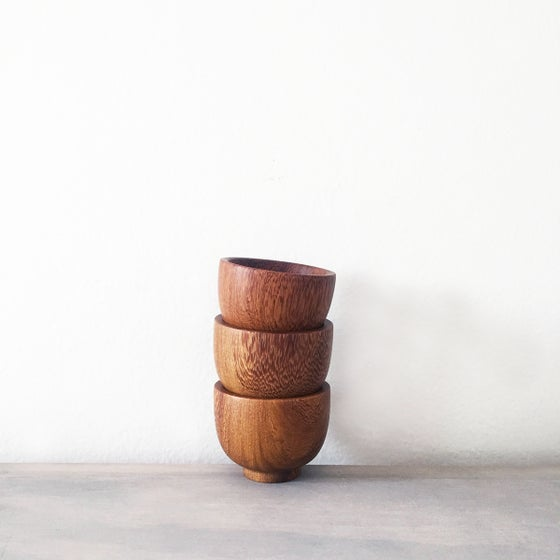 Image of Handmade Tropical Wood Pinch Bowl