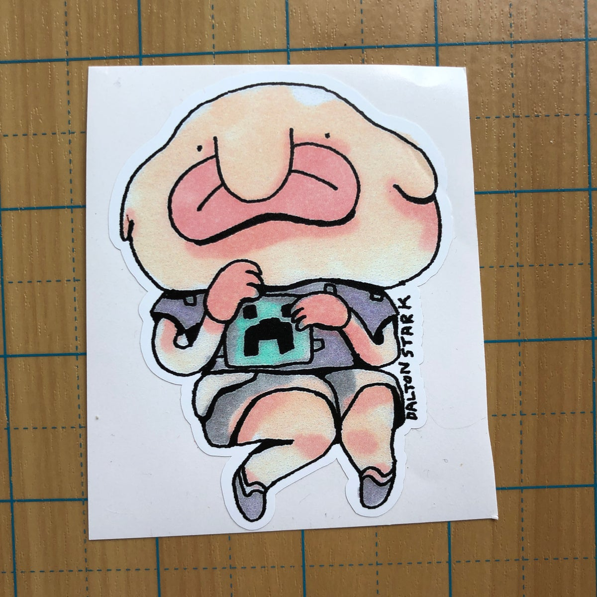 Image of Blob Fish Boy sticker