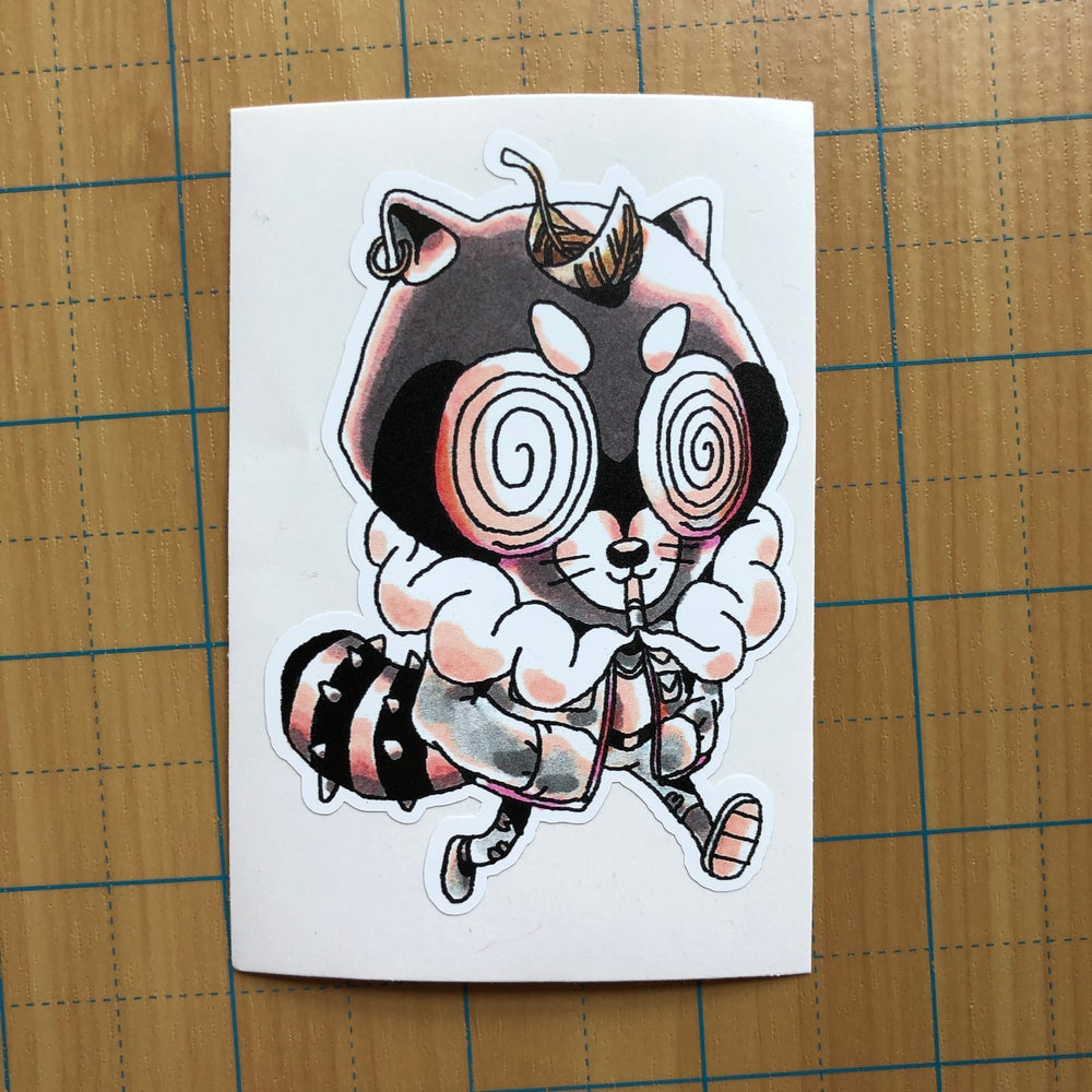 Image of Punk Tanuki sticker