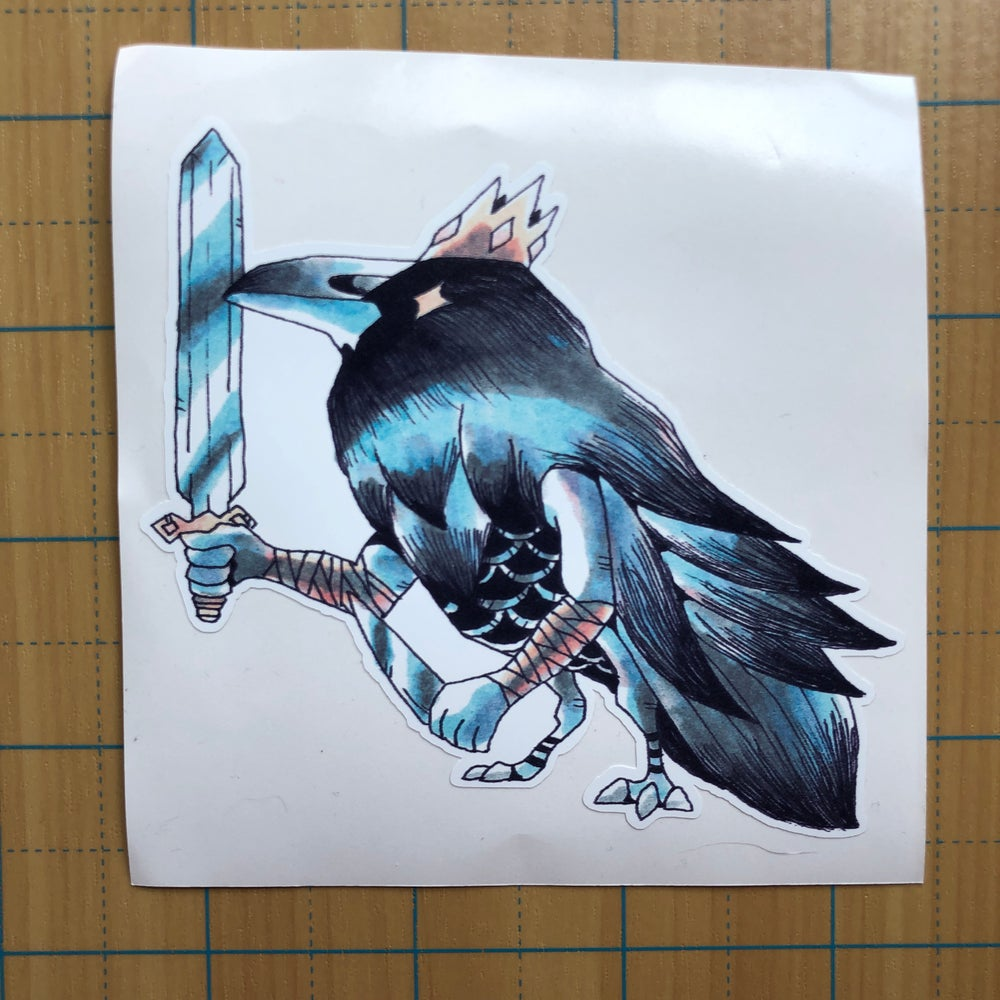 Image of King Raven sticker