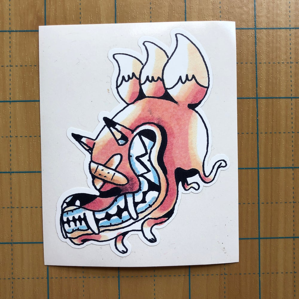 Image of Blind Kitsune sticker