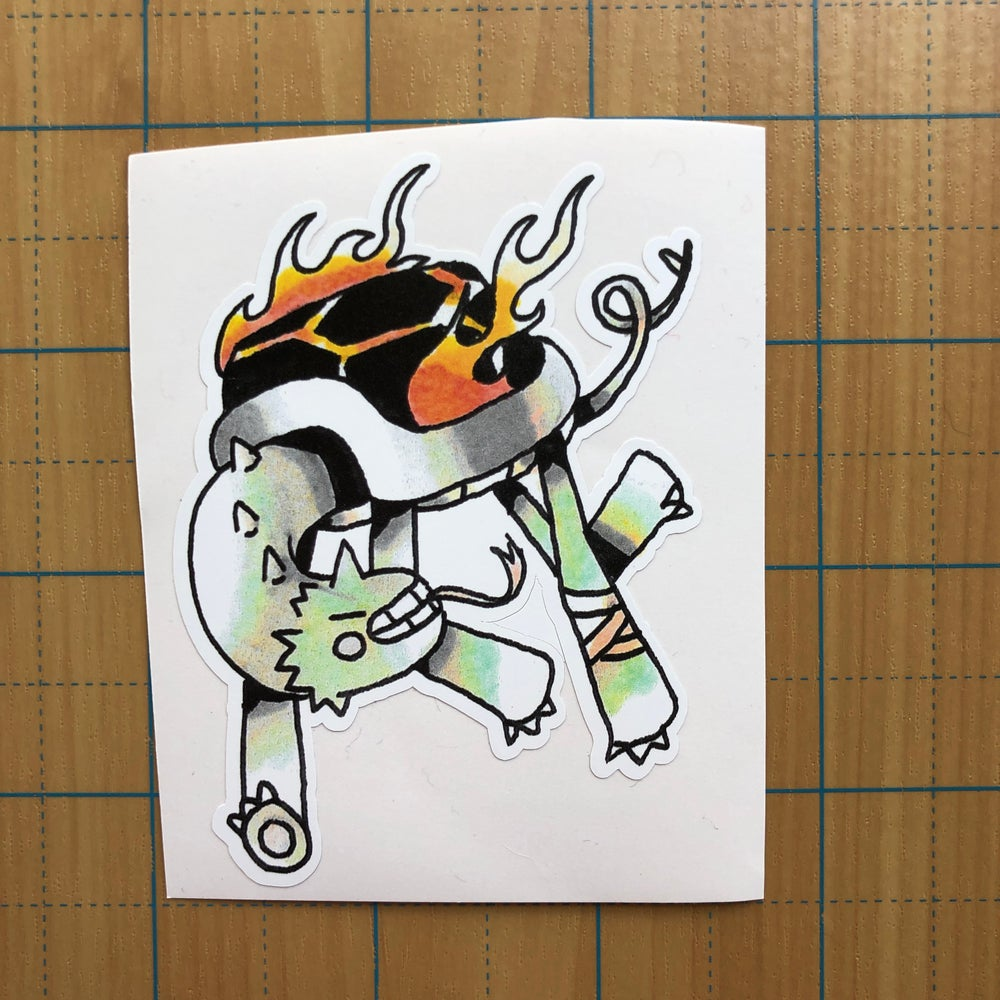 Image of Turtle Dragon sticker