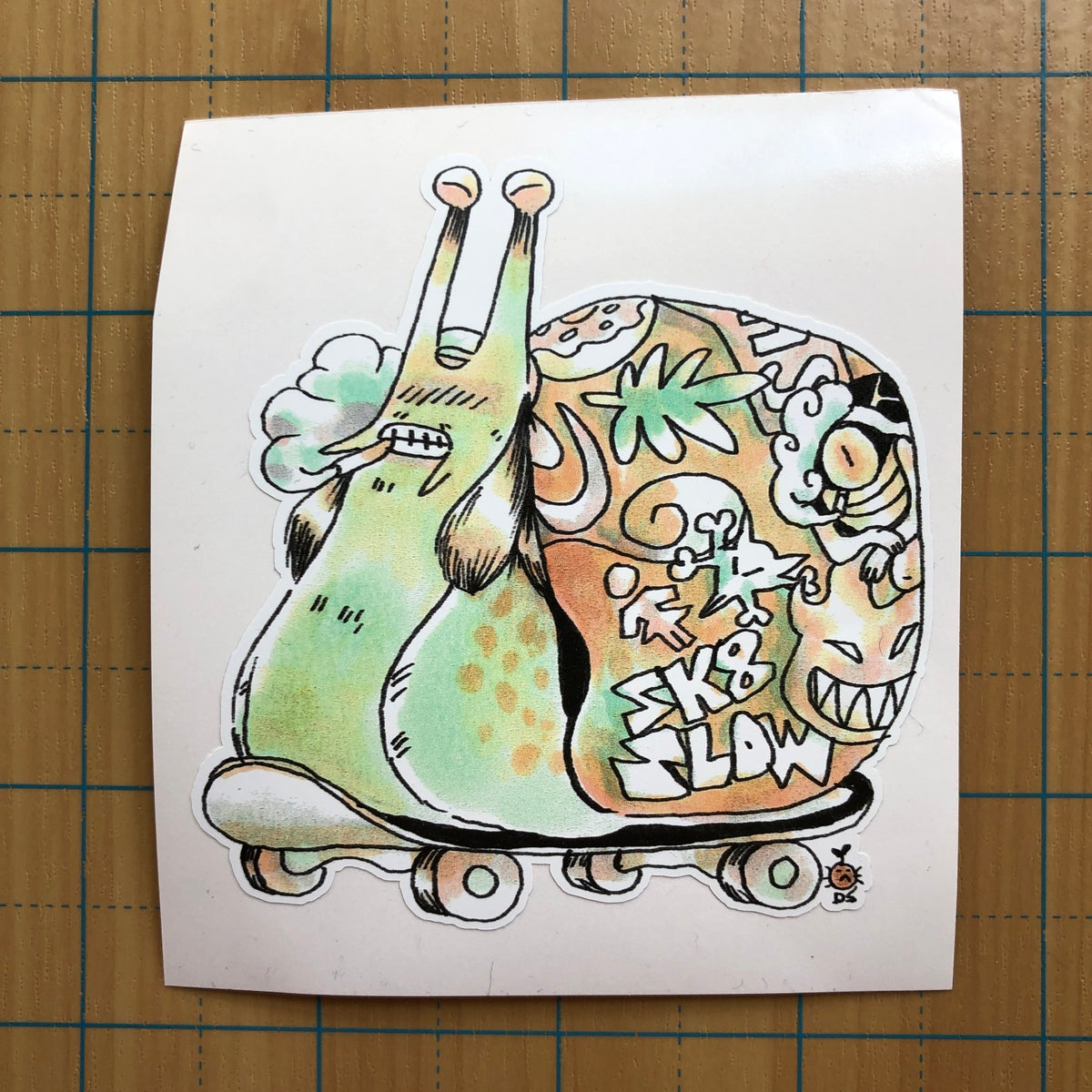 Image of Skater Snail sticker