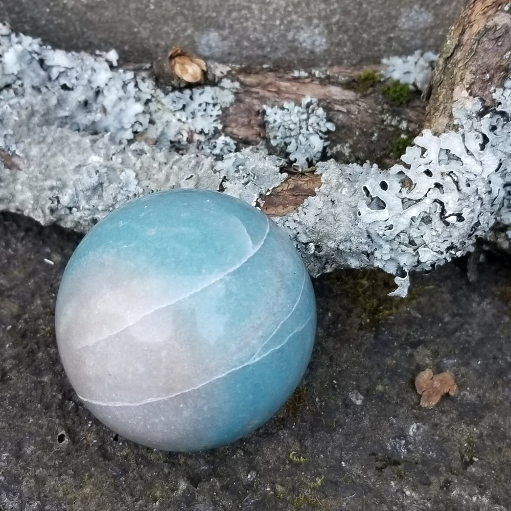 Image of Blue Like the Sky - Trolleite Sphere - rare find!