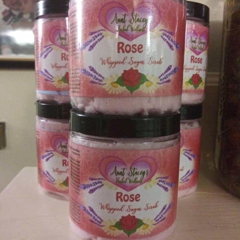 Image of Rose Whipped Sugar Scrub