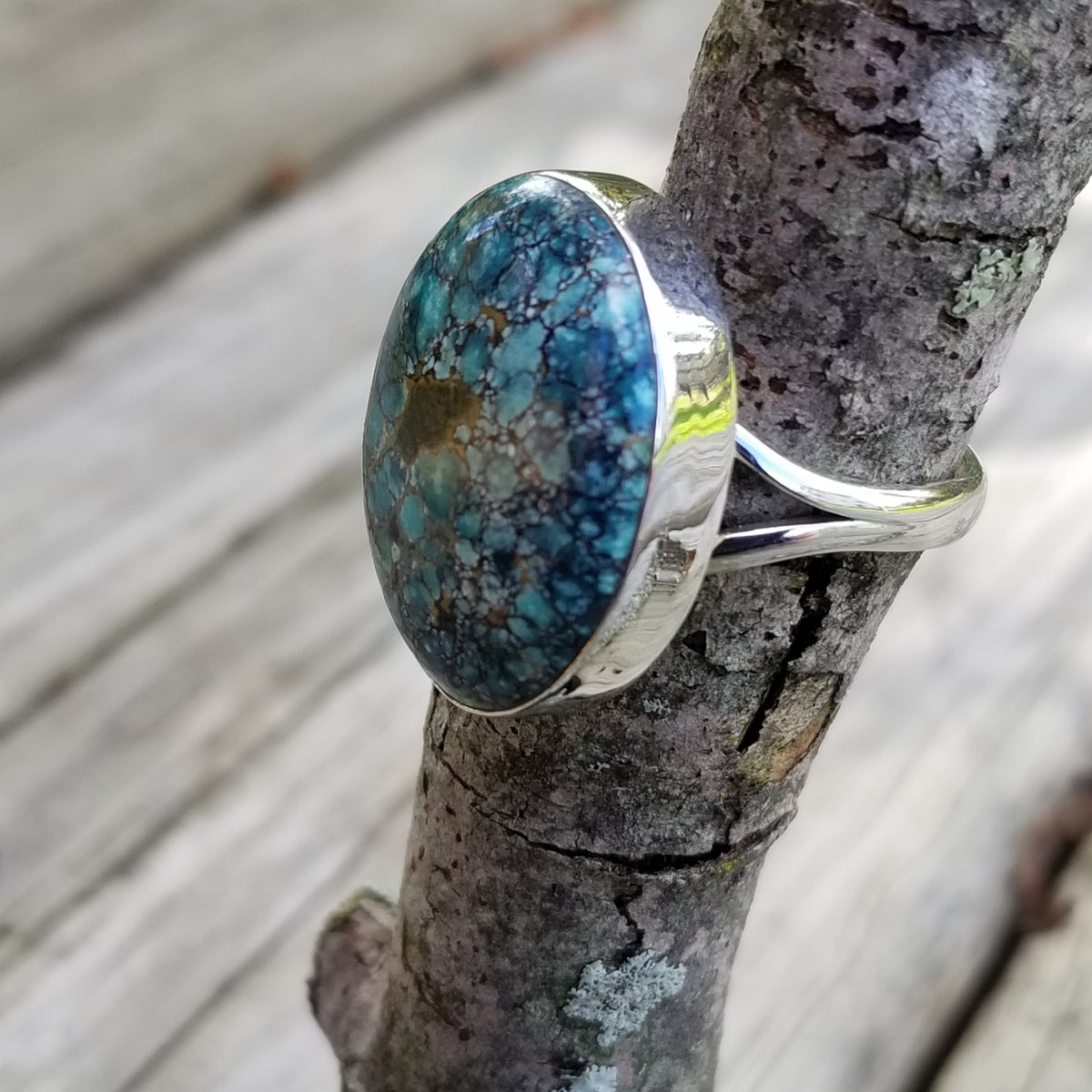 Image of Lakeside Ring - Tibetan Turquise in Sterling