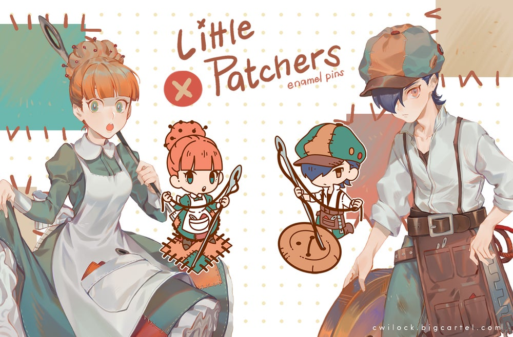 Image of Little Patchers Enamel pins