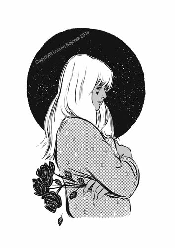 Image of 'I bought the roses for myself' A4 print