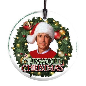 Image of National Lampoons Christmas Vacation Griswold Christmas Hanging Glass Print