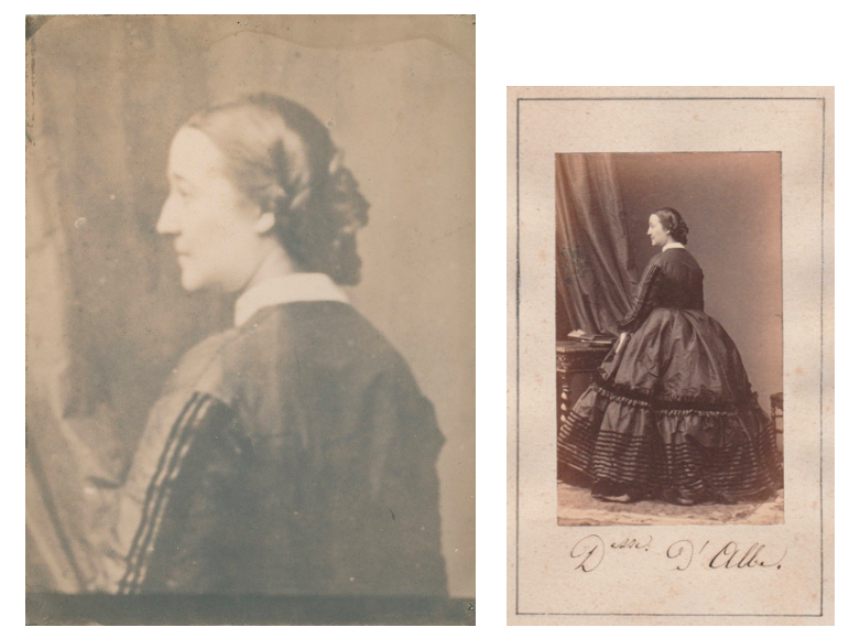 Image of Disdéri: photographic enlargement of portrait Pacca duchesse d'Albe, ca. 1860