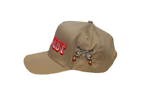 "Image of TFG Rodeo Collection ""Wild West"" Tan Trucker Hat"