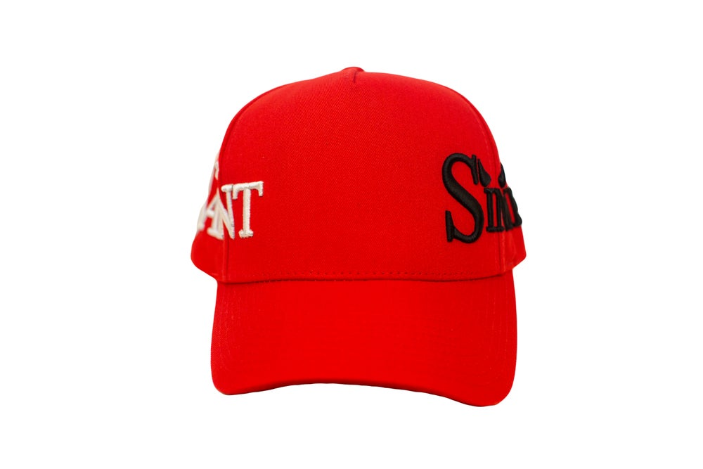 Image of TFG Exclusive Saint & Sinners Red Trucker Hat