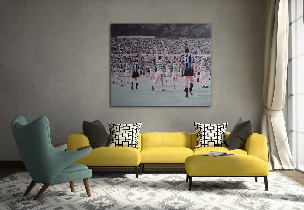 Image of 'Glory' The Lisbon Lions Hand Painted Original